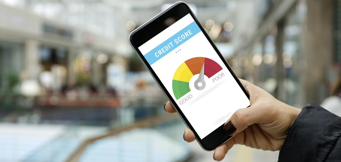 Credit score on smartphone