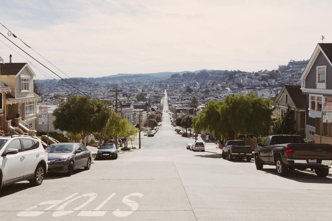 Residential street in San Francisco