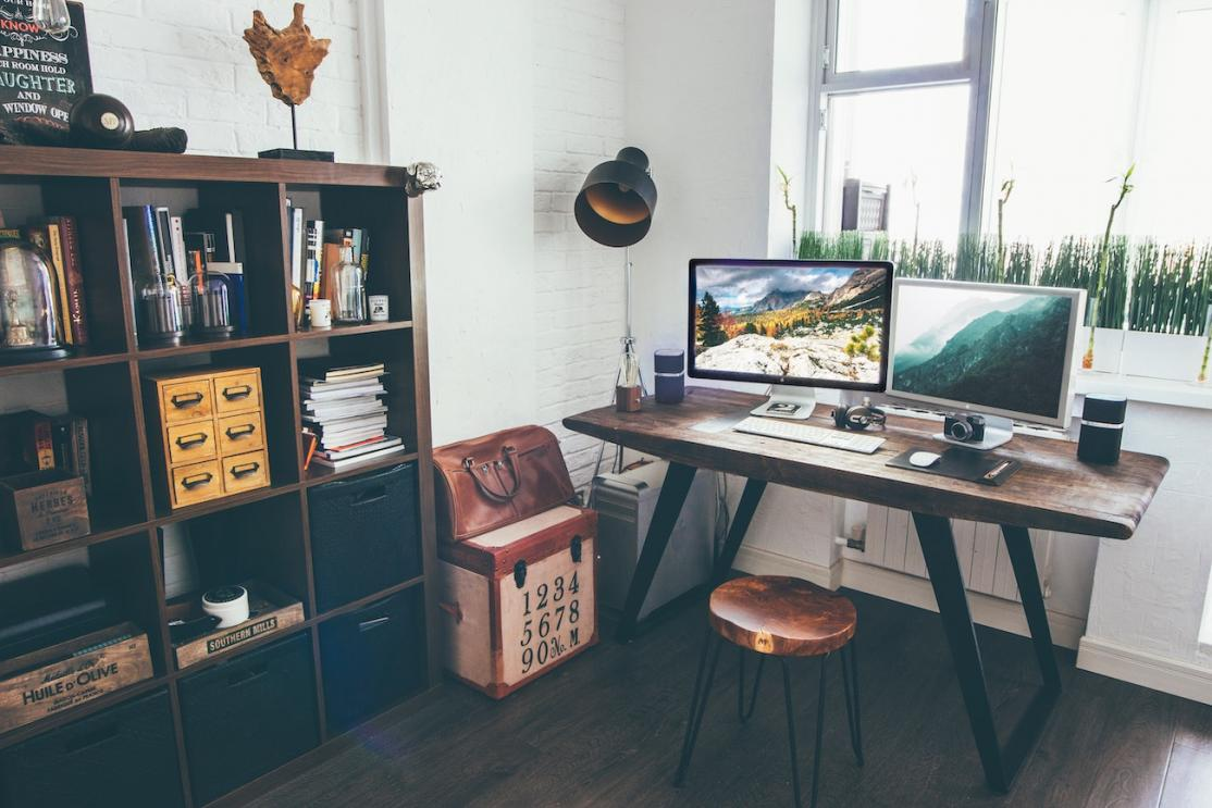Home office interior space