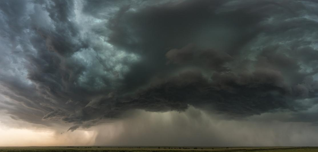 Depiction of a supercell storm