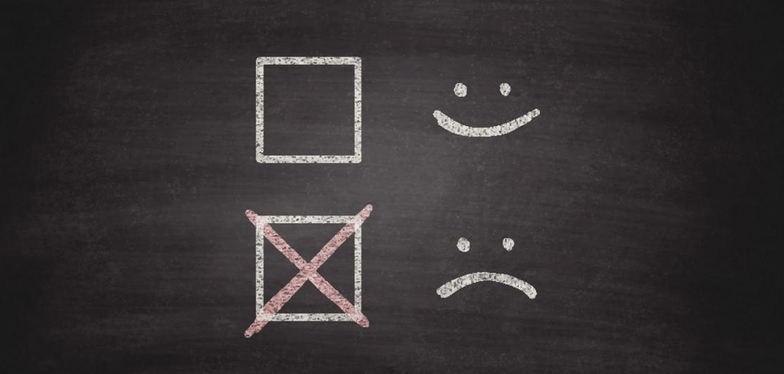 Smiley or Sad Checkboxes on Blackboard