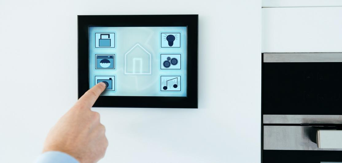 Smart home with digital tablet to control internet connected devices