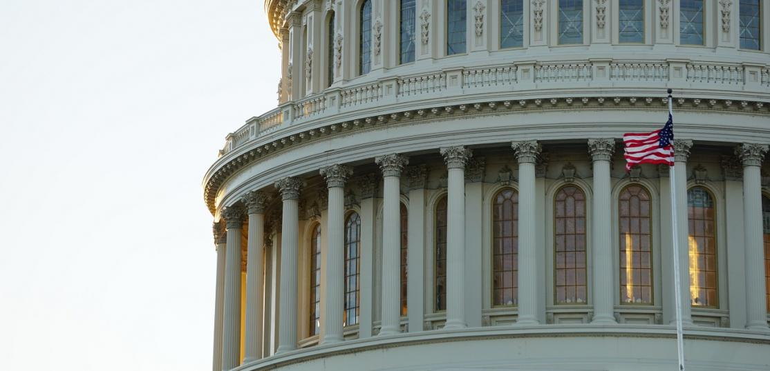Close-up of the Capitol Building