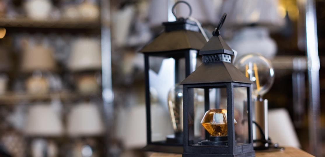 lanterns at lamp shop
