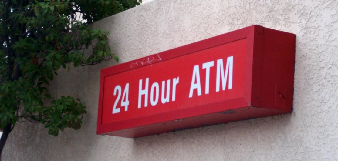 AN ATM sign, as Generation X gained the most wealth in the last decade