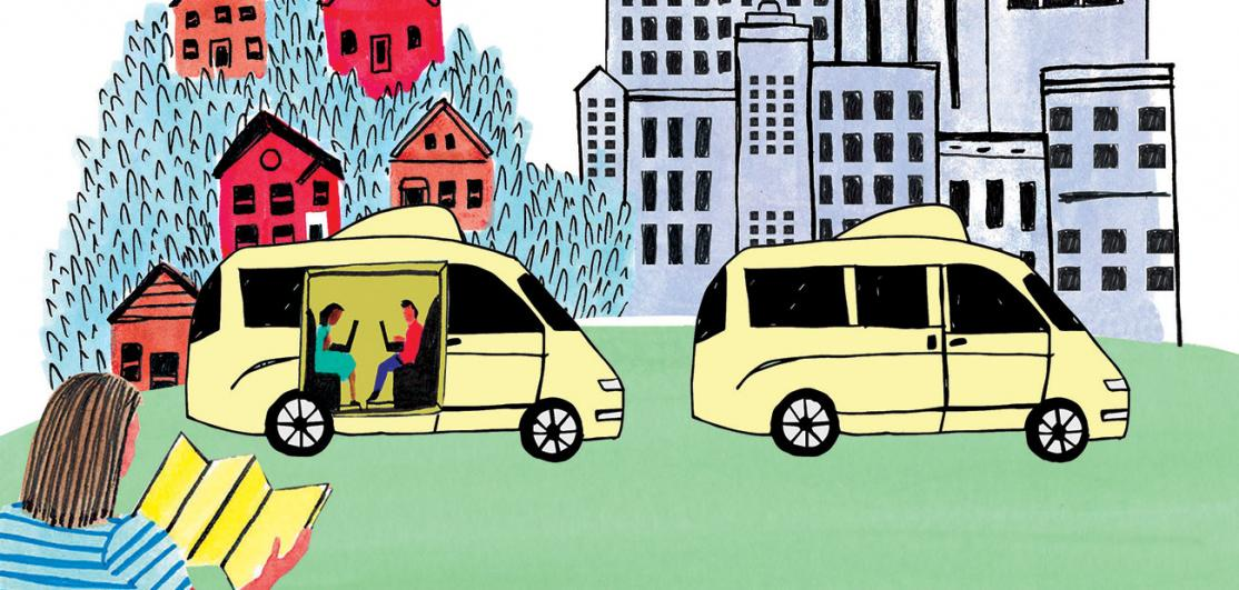 driverless car illustration