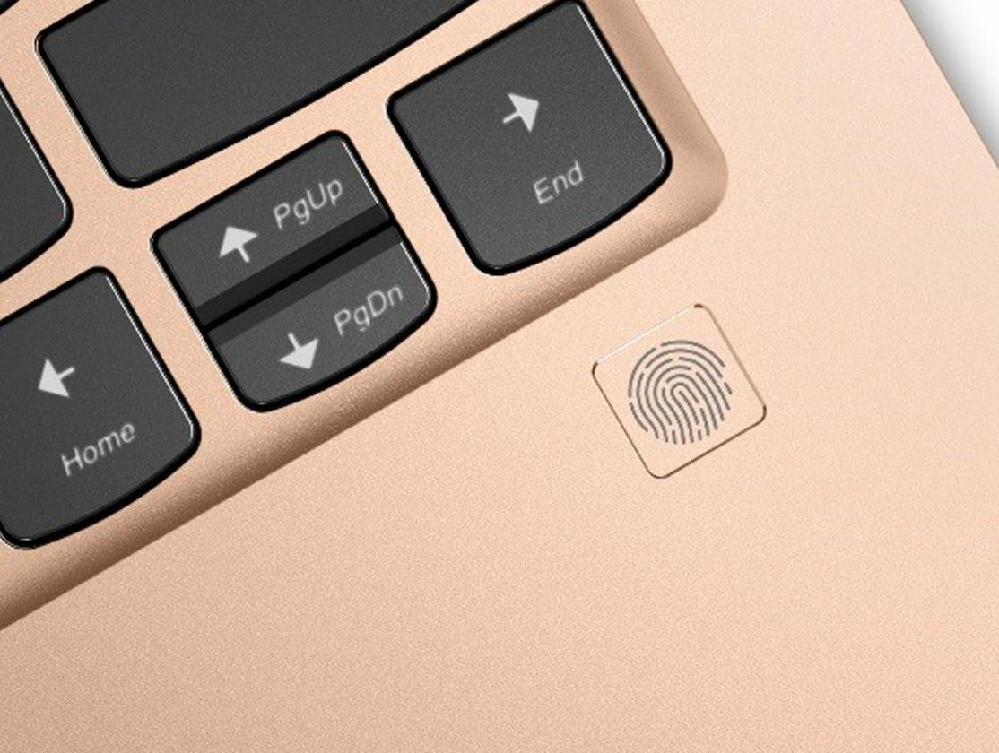 Close up of Lenovo Yoga 920 with fingerprint reader
