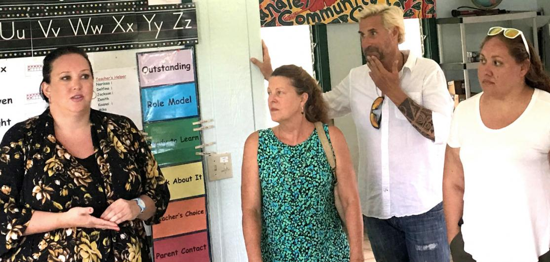 NAR's president, left, met with REALTORS® and others hurt by the devastating flooding on Kauai in the spring.