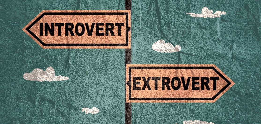 arrows: introvert, extrovert