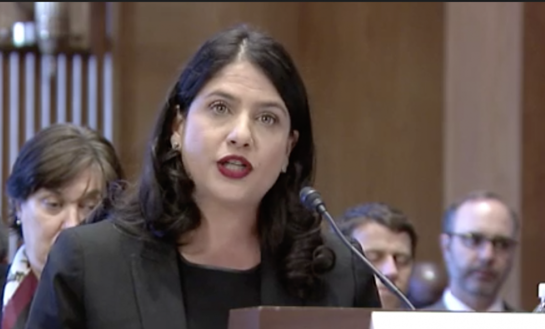 Nina Dosanjh testifies before the Senate Commerce Committee.