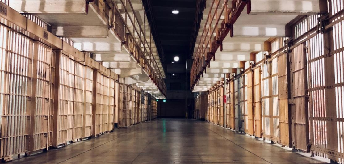 Rows of prison cells