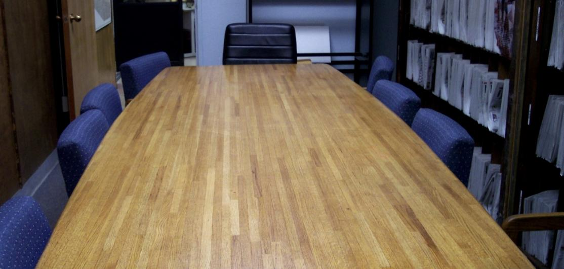Chairs around a meeting room table