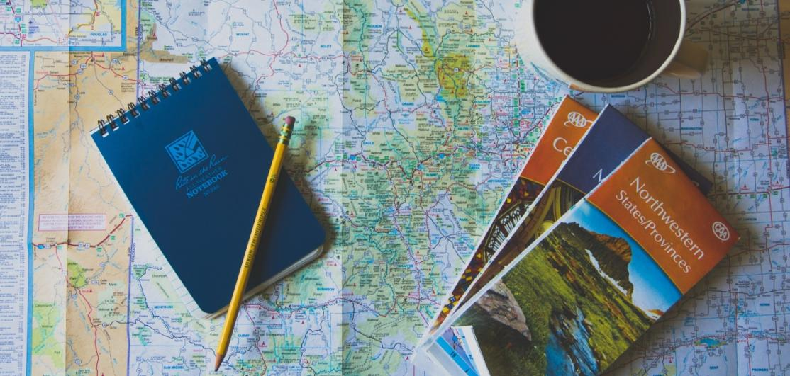 Maps with a notebook