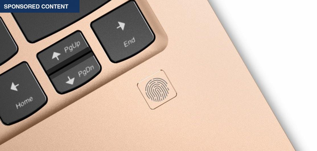 Fingerprint on laptop keyboard