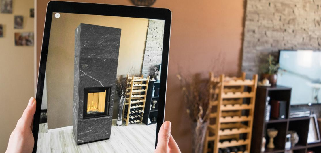 previewing fireplace placement in augmented reality