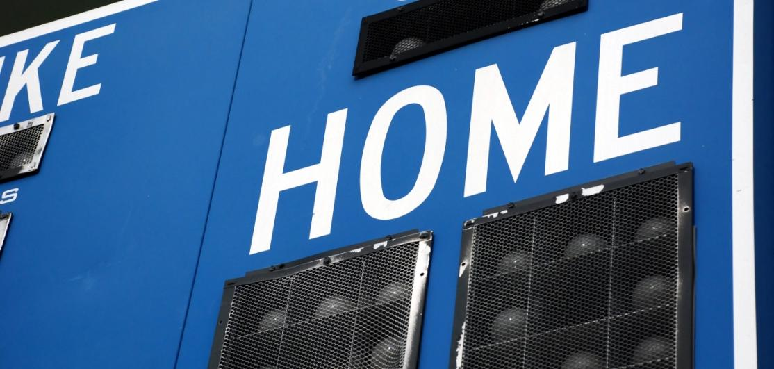 """The portion of a scoreboard reading """"HOME"""""""