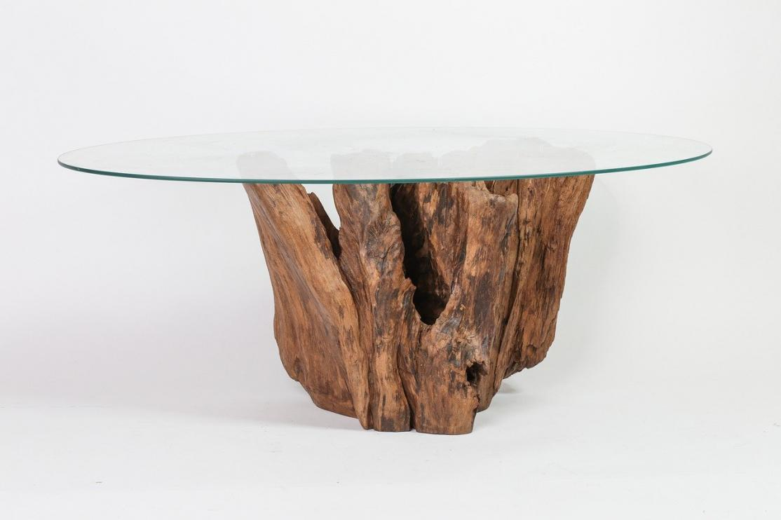 Coastal Style Glass/Wood Table