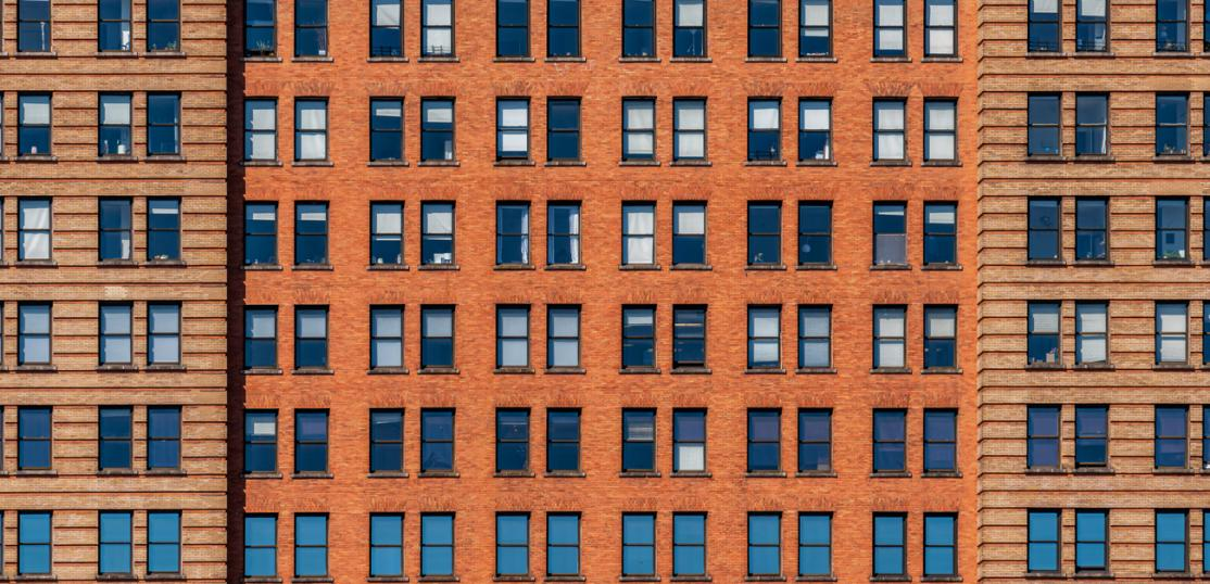 close up of apartments in NYC