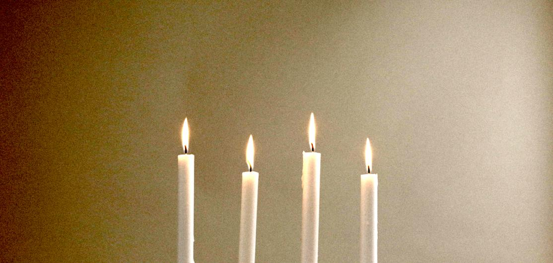 Four romantic candles