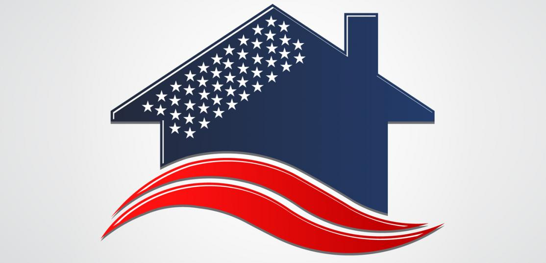 patriotic theme home icon