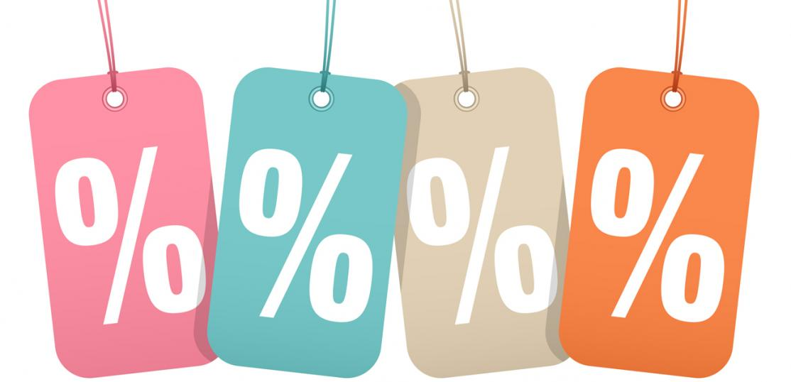 hangtags with percentage rates