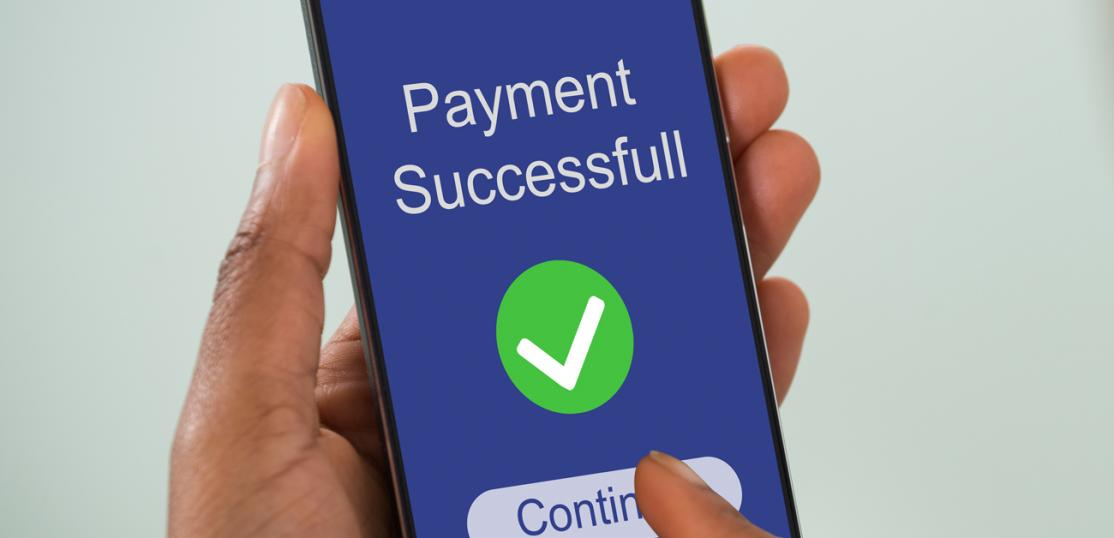 person making mobile payment