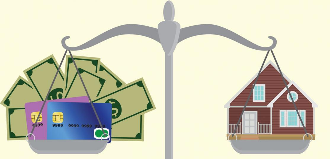 income and debt vs home