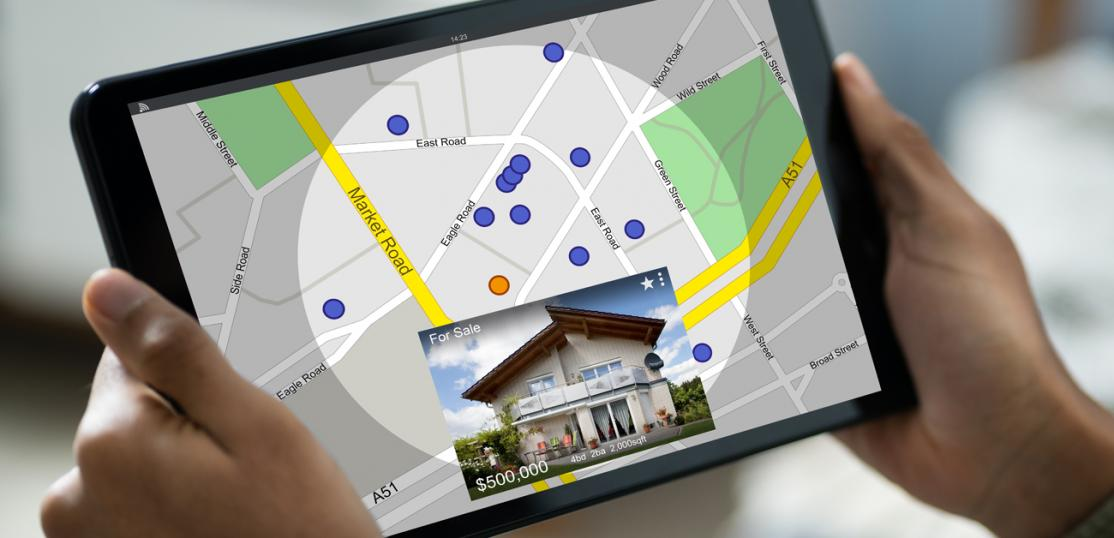 home search on tablet device