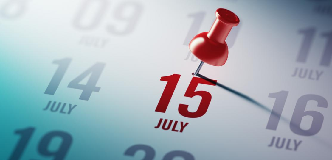 pin on date July 15 on calendar