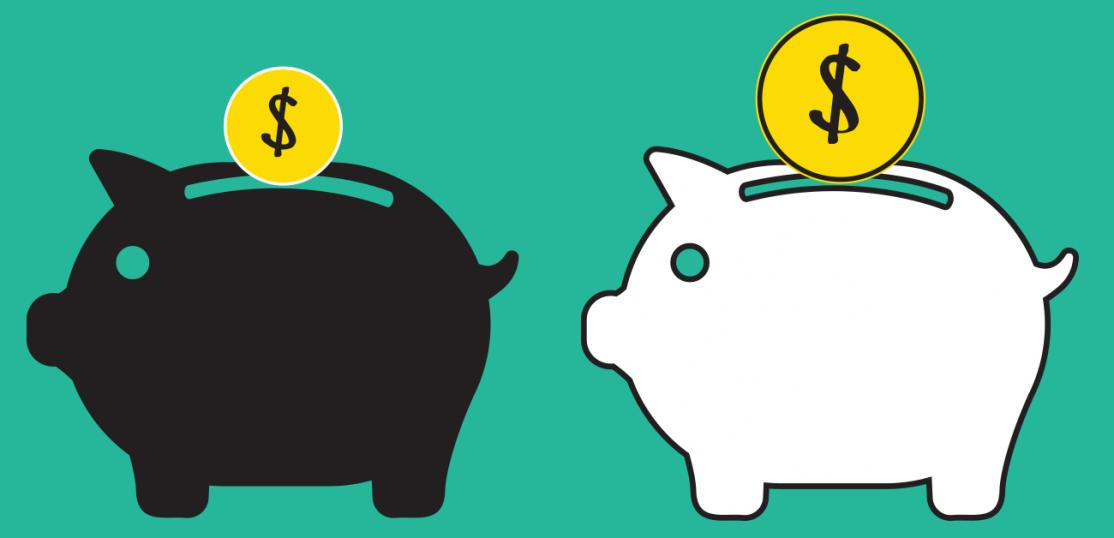 illustration of piggy banks showing wealth disparity