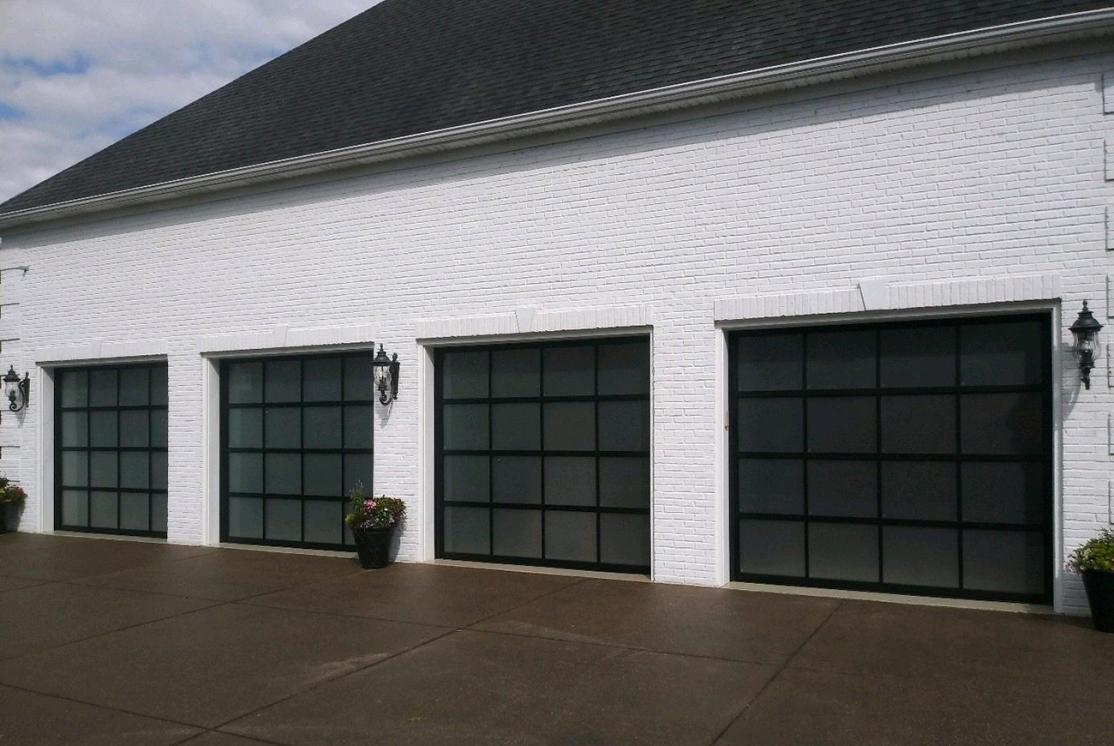 Garage With Glass Doors