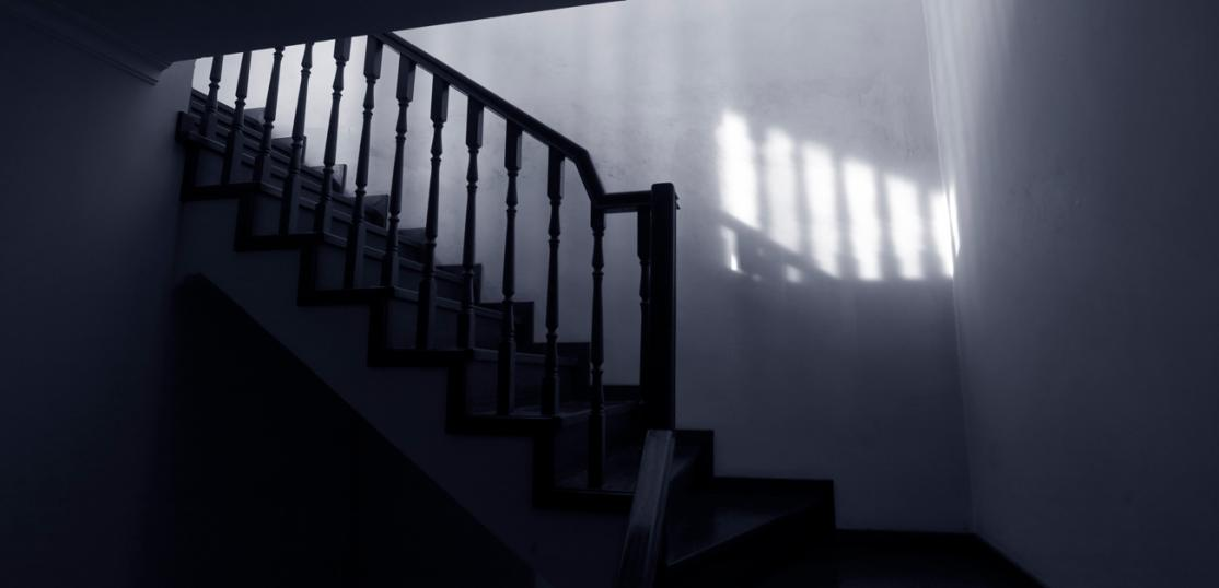 stairway in haunted home