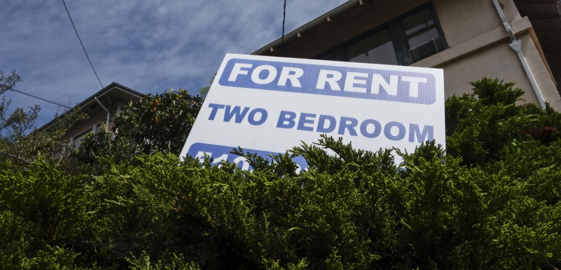 Sign advertising 2BR apartment for rent
