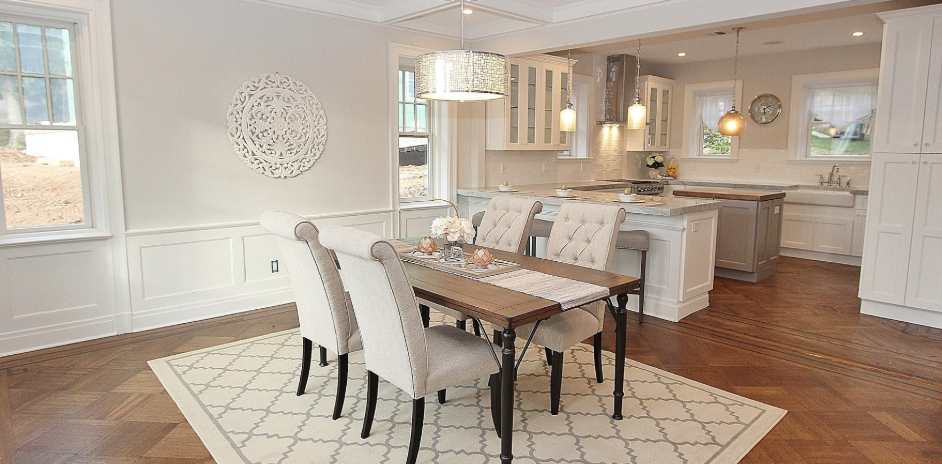 staged dining room and kitchen after picture