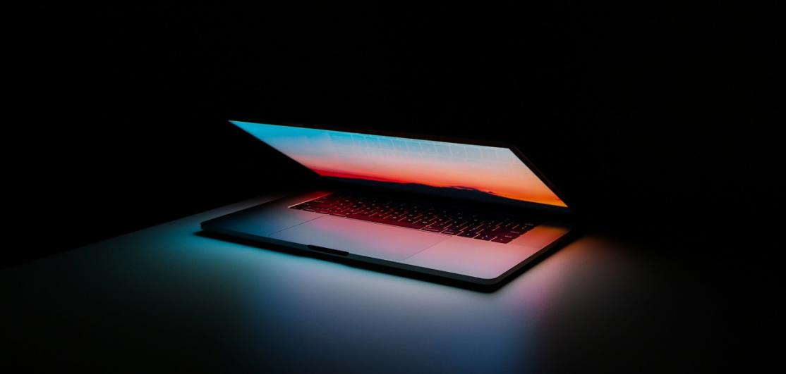 Light from laptop