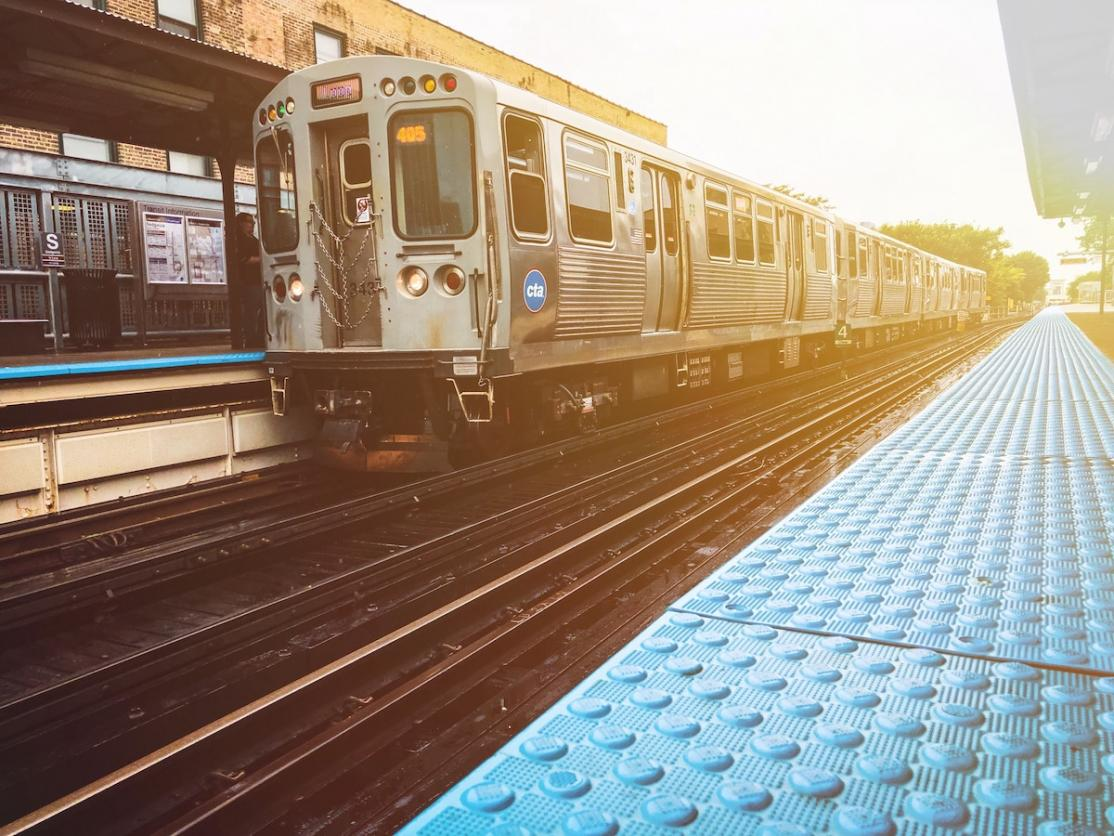a photo of a cta train