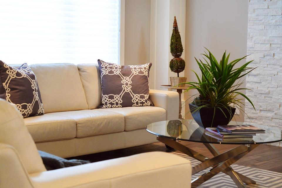 a vignette staged living room