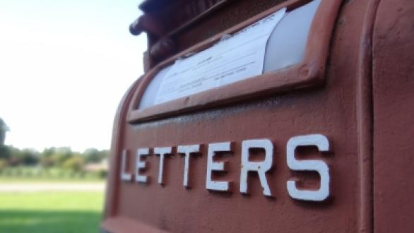 """A mailbox with the text """"LETTERS"""""""