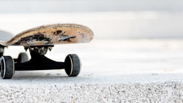 A skateboard on pavement
