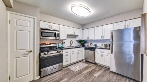 Kitchen at Heights Apartments by CLP MidPointe