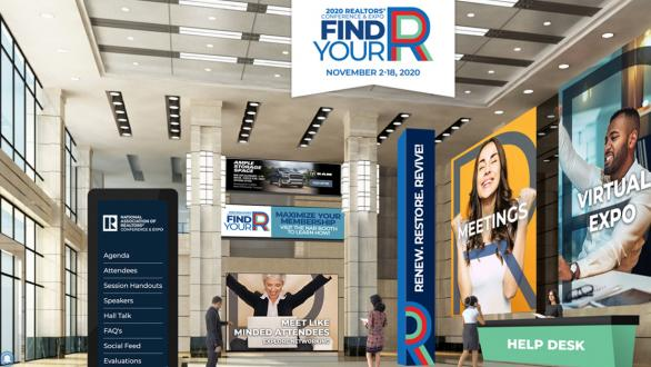 screenshot from lobby of NAR virtual conference