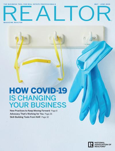the cover of the may - june 2020 issue of realtor magazine
