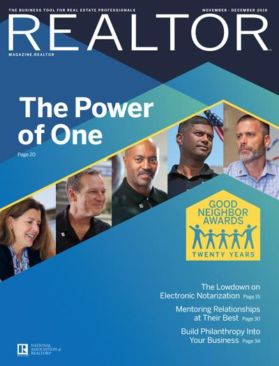realtor magazine november - december 2019 cover