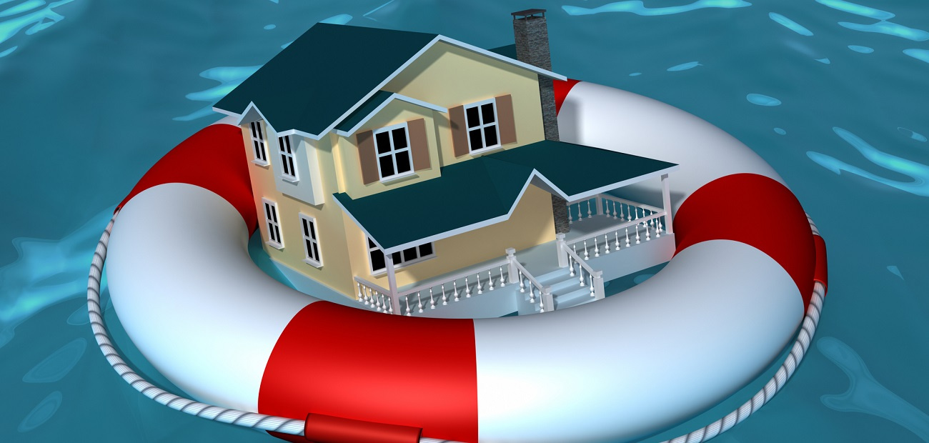 House with life buoy