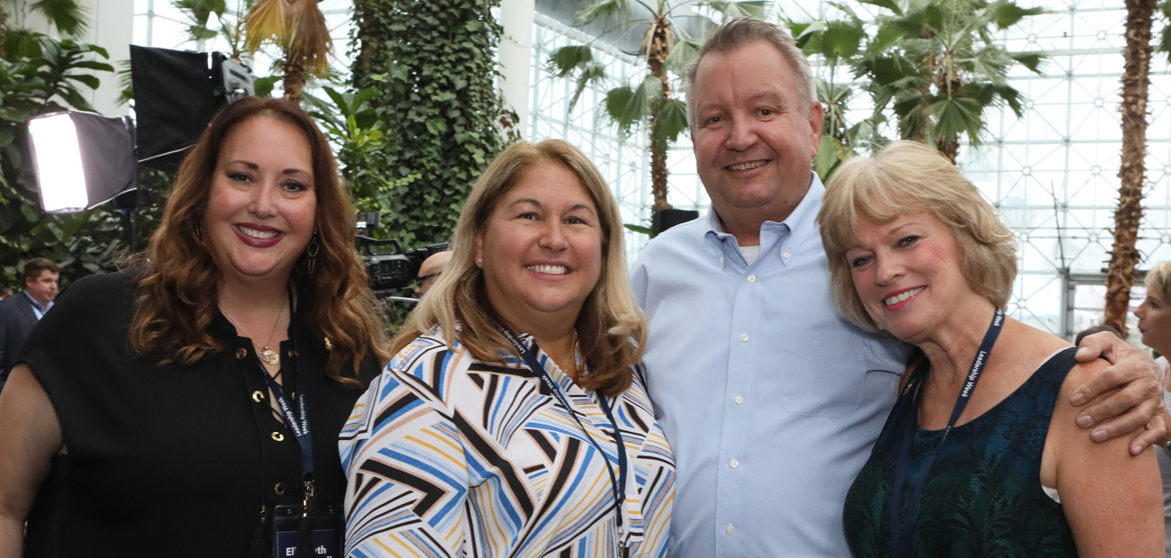 From left, Elizabeth Mendenhall, Christine Hansen, Smaby, and Chris Reese