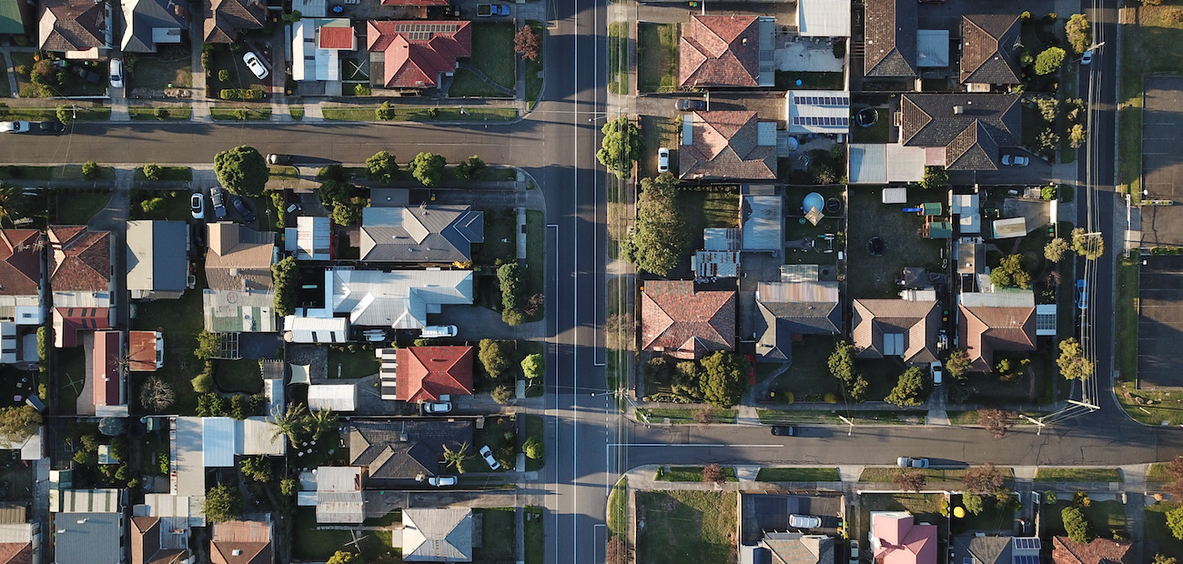 A neighborhood of many hones from above