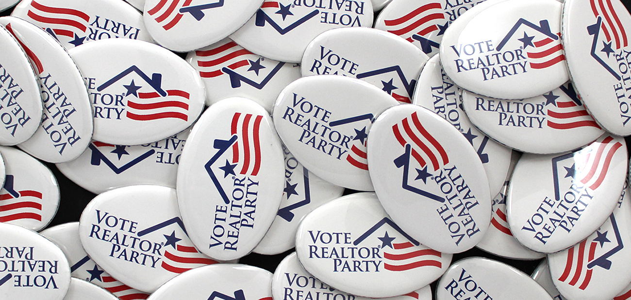 Vote Realtor® Party buttons