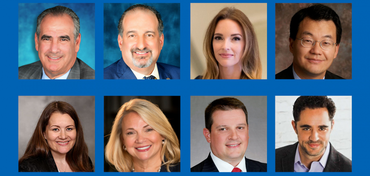Image of eight headshots of NAR leaders who were featured in the 2021 Swanepoel Power 200 List