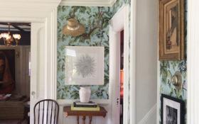 wallpaper in entryway